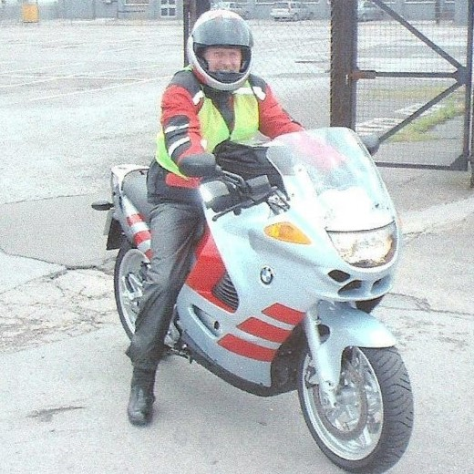 Colin na swoim BMW K1200RS. Rok 2001.